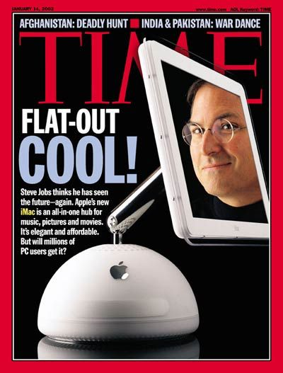 times magazine imac G4 steve jobs pixelwaves blog sunflower Mac