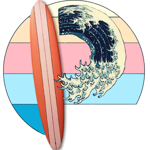 pixelwaves.net pixelwaves new logo surfboard kangawa great wave